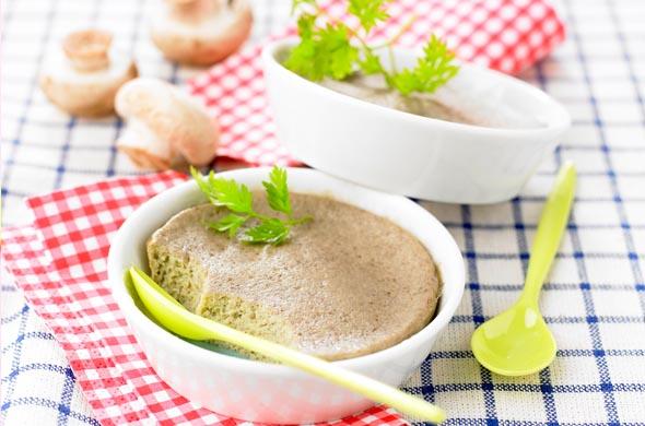 Omelette vapeur aux champignons