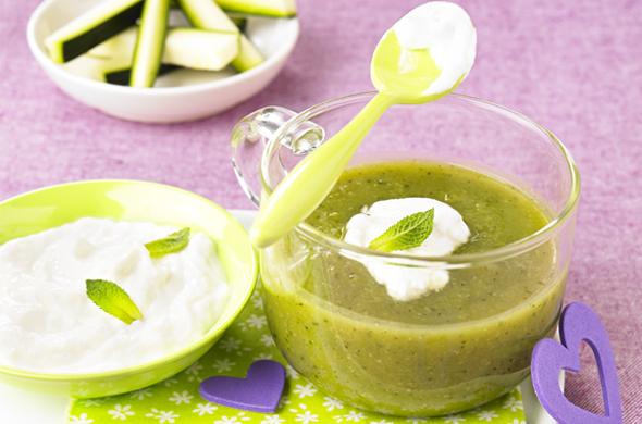 Cappuccino de légumes à la menthe