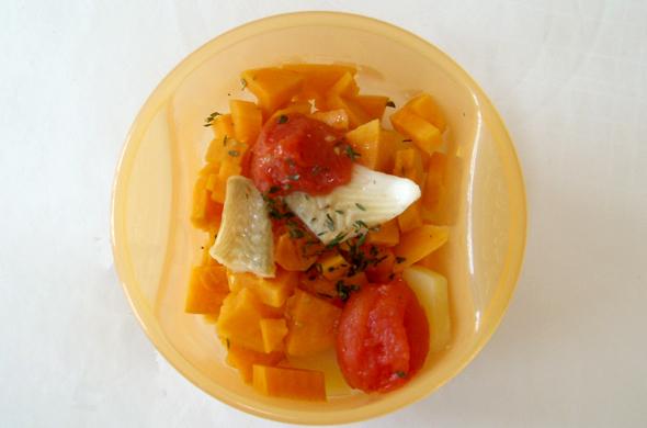 Poisson à la patate douce et tomates cerise