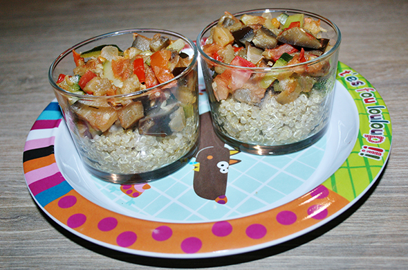Duo de Quinoa et Ratatouille pour les tous petits