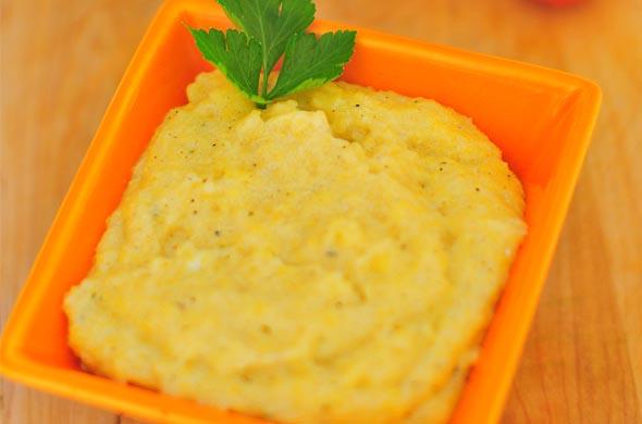 Petit pot de polenta au fromage