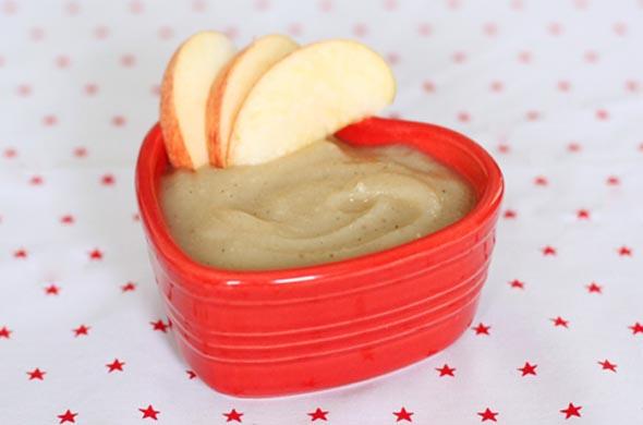 Compote pomme poire vanille pour bébé