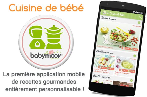 LA nouvelle application mobile «La Cuisine de bébé»