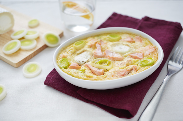 MUM'S RECIPE: Salmon, leek and goat's cheese flan