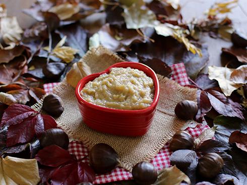 Compote pomme et chataignes vanillés