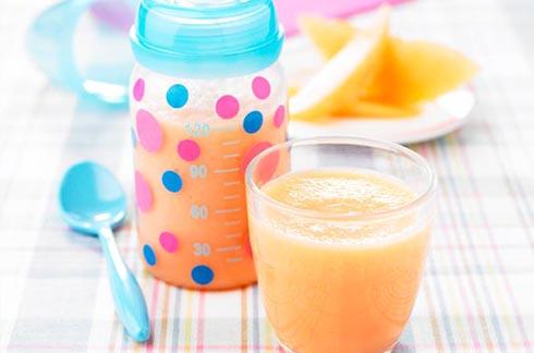 Crema fría de melón para bebes