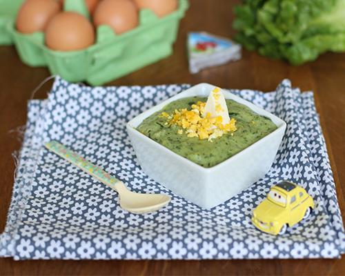 Purée de laitue et œuf mimosa