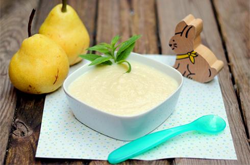 Receipe baby food Pear and lemon verbena compote