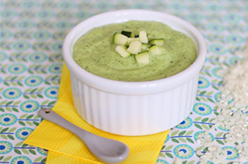 Rice pudding with courgette and coco