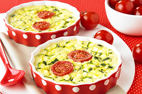 Small flan with sun-kissed vegetables-baby-food