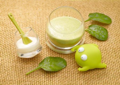 Spinach cream babyfood