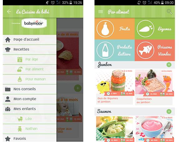 LA Nouvelle Application Mobile La Cuisine De Bébé Cuisine De - Appli cuisine