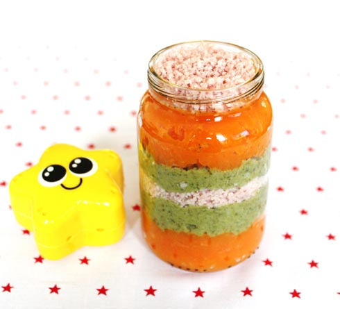 babyfood recipe Vegetables and ham duo