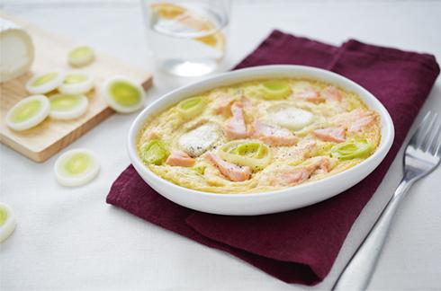 flan de salmón, puerro y queso de cabra2