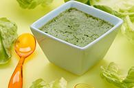 recette petits pots flan laitue salade au cumin pour bébé