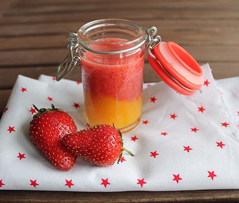 petit dessert fraise mangue pour bébé