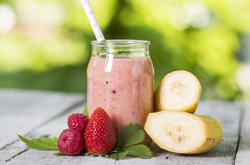 petit smoothie fraise banane