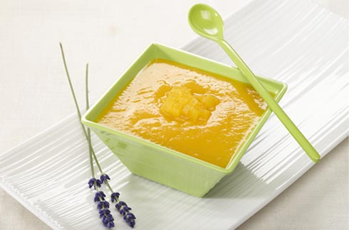 receipe Peach Melba with lavender