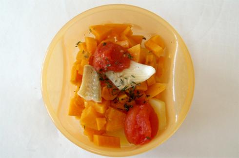 poisson la patate douce et tomates cerise cuisine de b b. Black Bedroom Furniture Sets. Home Design Ideas