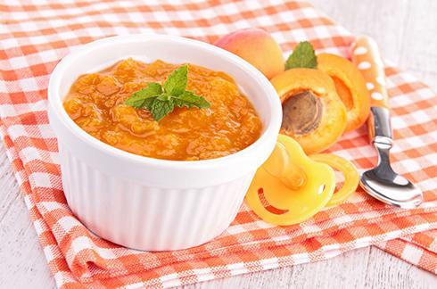 recette compote abricot pêche bébé