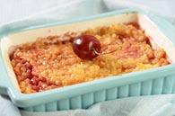 recette bebe crumble poire cerise