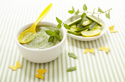recipe babyfood Cucumber and mint gazpacho