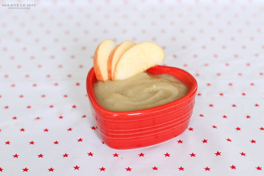 recipe for baby Apple, pear and vanilla compote