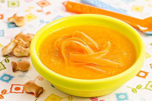 rezepte für baby Möhrensuppe mit Kiri