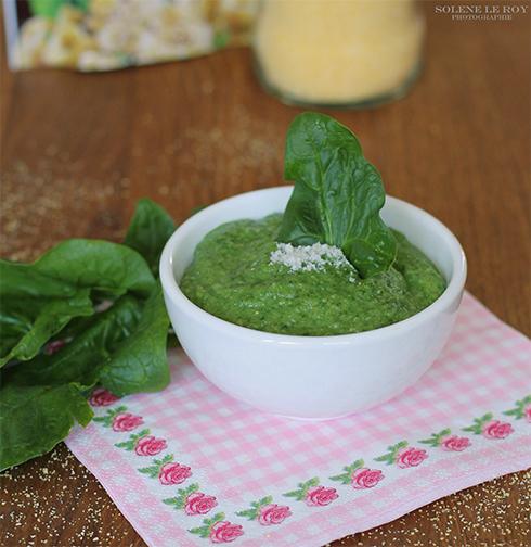 rezepte für baby Sahnige Polenta mit Spinat und Parmesankäse