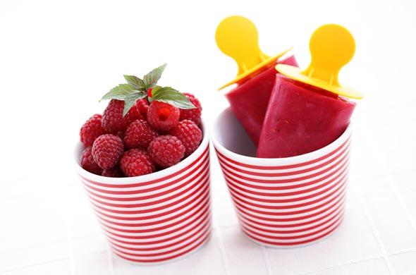 Sorbet aux fruits rouges