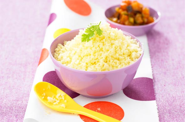 Grains De Couscous Légers Légers Cuisine De Bébé - Recette de cuisine pour bebe