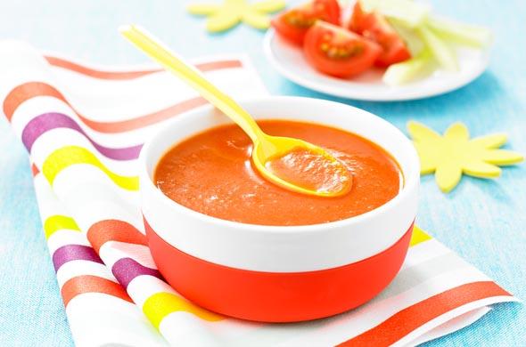 Gaspacho Pour Bébé Cuisine De Bébé - Recette de cuisine pour bebe