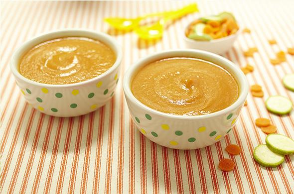 Soupe de légumes au lait d'amandes « Cuisine de bébé