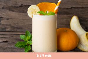 smoothie pomme banane orange