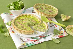 Tartelettes à la mâche et bâtonnets de jambon