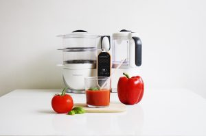 Gaspacho tomate & poivron au basilic