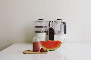 Milkshake fraise-pastèque-menthe nutribaby