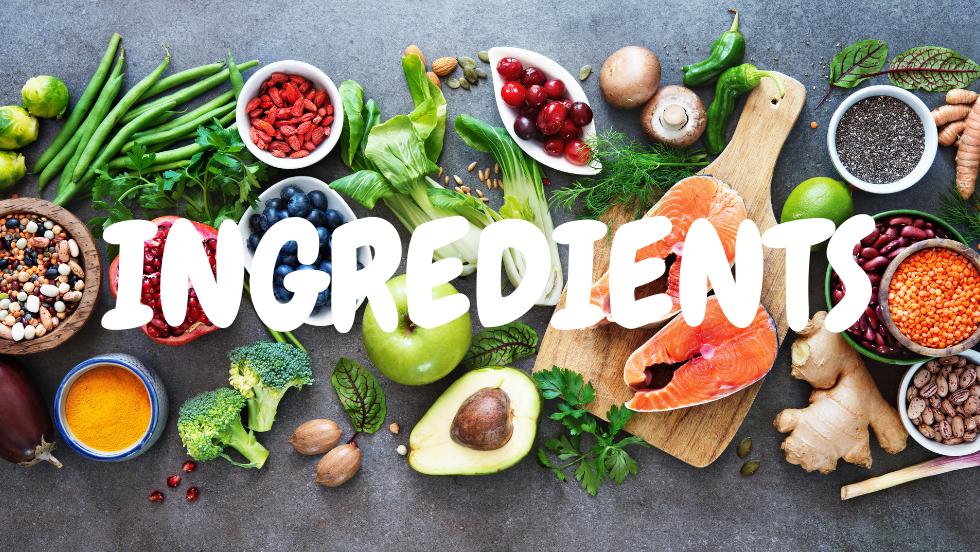 liste des ingrédients