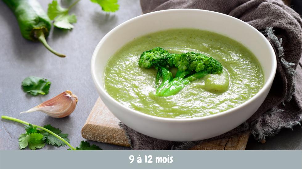 purée brocoli et jambon