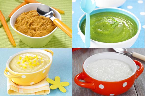 Papillas de verduras para bebes de 4 meses